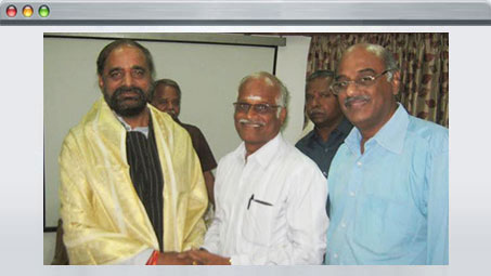 Honouring Union Minister